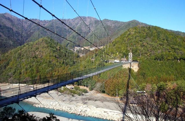 十津川街道-谷瀬の吊り橋